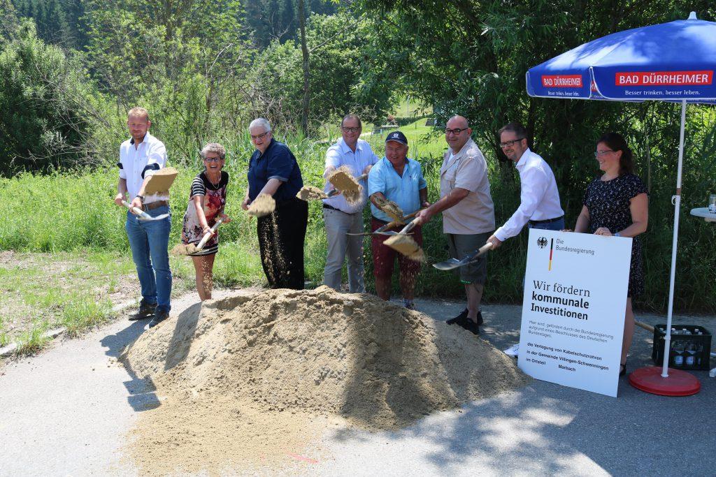 Baustart in Marbach