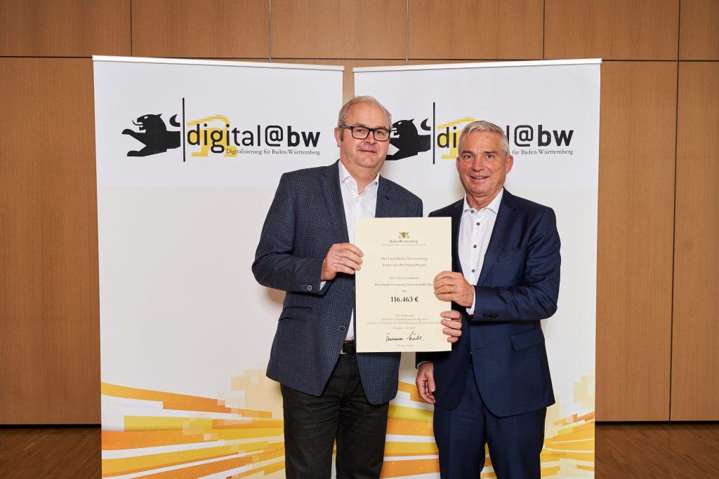Das Land Baden-Württemberg fördert den Breitbandausbau in Mönchweiler mit über 116.000 Euro