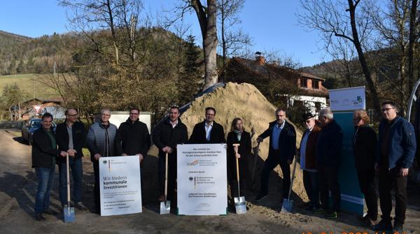 Offizieller Spatenstich Blumberg Talgemeinden