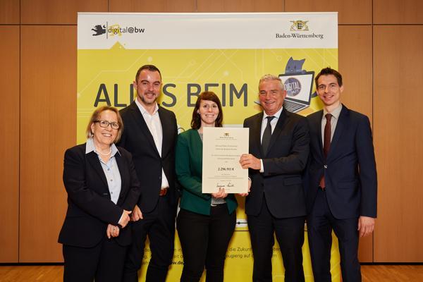 Das Land Baden-Württemberg fördert Ausbauprojekte des Zweckverbandes Breitbandversorgung Schwarzwald-Baar mit rund 2,3 Millionen Euro