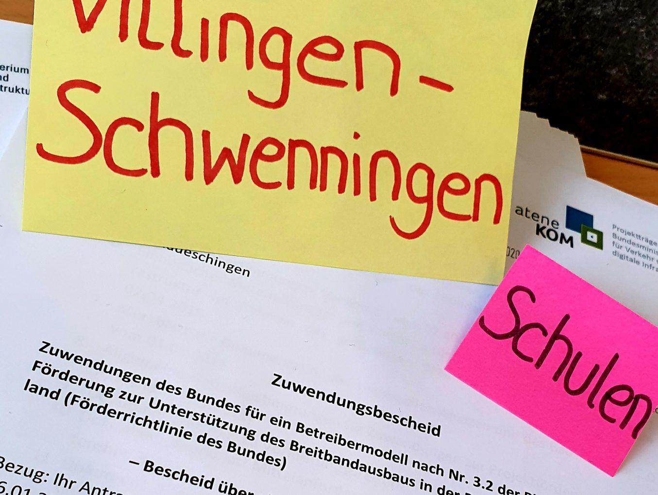 Vorläufiger Zuwendungsbescheid für die Schulen in Villingen-Schwenningen