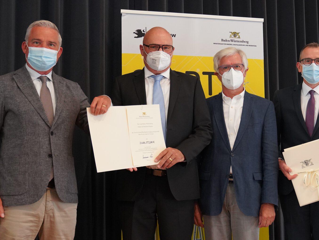 Das Land Baden-Württemberg fördert St. Georgener Ausbauprojekte des Zweckverbands Breitbandversorgung Schwarzwald-Baar mit rund 2,6 Millionen Euro
