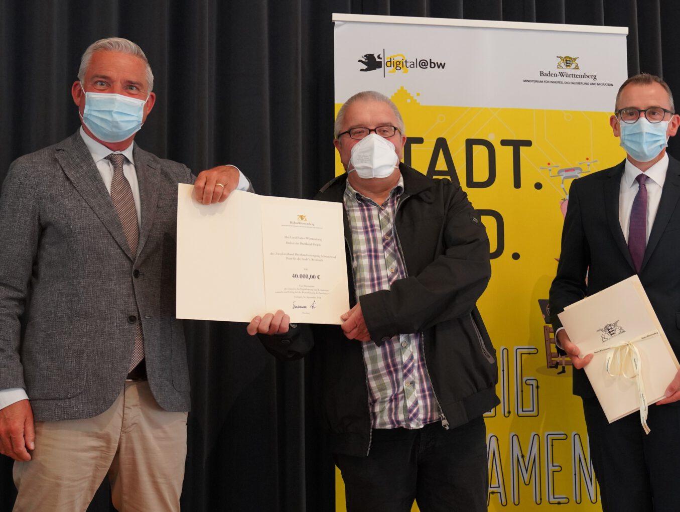 Das Land Baden-Württemberg fördert Vöhrenbacher Ausbauprojekt des Zweckverbands Breitbandversorgung Schwarzwald-Baar mit 40.000 Euro